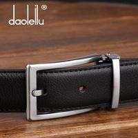 Male women's cowhide genuine leather pin buckle western-style trousers formal strap belt