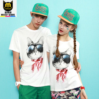 Summer lovers short-sleeve T-shirt 2014 white top short-sleeve shirt a338