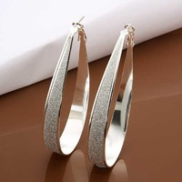 Christmas Gift!!Wholesale 925 Silver Earring 925 Silver Fashion Jewelry,U Hoop Earrings SMTE461