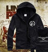 HOt Free Shipping New top brand designer fashion ziper hoodies linkin park LOGO hoodies Sweatshirt