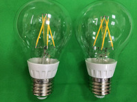 100X LED A19 Filament bulb 6W 110V 220V E27 dimmable warm white 2800K globe bubble ball clear glass cover replace halogen lamp