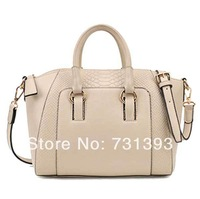 Women Tote Bag Crocodile pattern Handbags Lady Faux Leather OL Style Tote Messenger Cross Body Bag 270