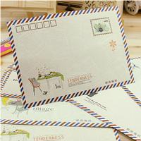 80 pcs/set  Retro Vintage Kraft Paper Envelopes Cute Cartoon Kawaii Paper  Stationery Gift Free shipping