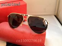 Luxury brand men's gilded leather legs titanium polarized sunglasses 0033 metal polaroid sunglasses for men driver mirror