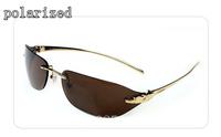 The new brand metal polaroid sunglasses for men driver mirror rimless glasses men's leopard head sunglasses 110