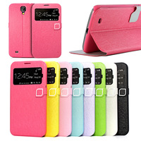 Free Shipping Hello Deere Feather Silk Series Pu Leather Cover For Samsung Galaxy Mega 5.8 I9150 Phone Cases Bag
