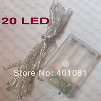 Battery Powered 20 LED Fairy String Lights 2M For Wedding Party decoration Christmas LED light ,500pcs/lot