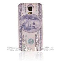 Samsung Galaxy S5 SV I9600 G900 Embossed Printing Battery Door Back Housing Cover Case (Benjamin Franklin 100 dollars)