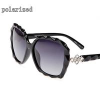 Fashion women's models brand designer concise full frame retro polarized sunglasses for women 087