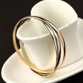 Модный Bracelet Bangles (3pcs/set) For Женщины, 18K Золото And Розовый Золото 316lL ...