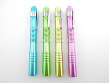 Aluminum Alloy shell Pen-shaped LED small flashlight, pocket small electric household battery flashlight(China (Mainland))