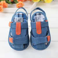 2014 T-tied Baby Boy Promotion Girls Shoes Material Cotton Cloth, Velcro Sandals Kid's Shoes First Walkers Neutral,free Shipping