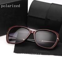2014 fashion new brand designer women's star models big box UV polarized sunglasses for women 6528