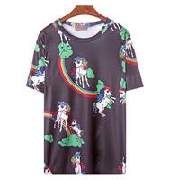 Free Shipping  HARAJUKU ayumi unicorn loose short-sleeve t-shirt