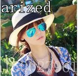 Luxury brand metal men's and women's anti-luster film UV polarized sunglasses for women and women 3025