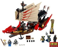 BELA 9762 680pcs large Ninjago Phantom Ninja minifigures Large Dragon Boat building block sets eductional Jigsaw children toys