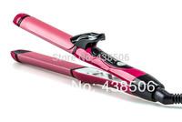5pcs Wholesale 2 in 1 Hair Straightener Hair Curler Tourmaline Ceramic Straightening Curling irons styling tools 110-240V EU/US