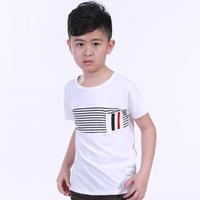 2014 summer male child short-sleeve T-shirt child t-shirt o-neck child all-match basic shirt