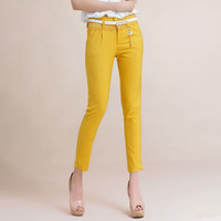 2014 ankle length trousers female spring and summer pants skinny slim white suit multicolour pants casual pants