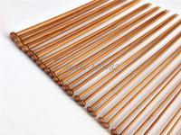 Free Shippng Needlework Bamboo Single point straight Knitting Needles 18 pairs & sizes length 36cm