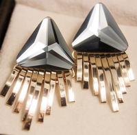 Free shipping! Charms Women Triangle Tassel Earring