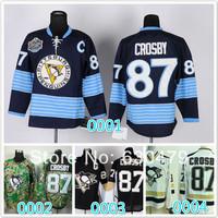 Cheap stitched 2014 NHL Pittsburgh Penguins #87 Sidney Crosby  black/blue/ camo  ice hockey jersey/shirt/sportswear