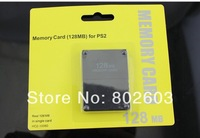 wholesale 10pcs/lot Standard full storage black 128MB Memory Card for PS2 Playstation 2