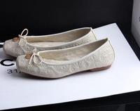 Fashion metal decorative bow Square yards flat Single woman shoes. Free shipping