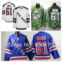 Cheap stitched 2014 NHL New York Rangers 61 Rick Nash  blue/white / camo  ice hockey jersey/shirt/sportswear