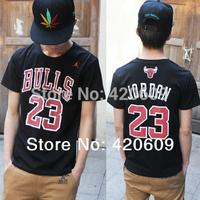 Free Ship 2014 Fashion Hip Hop T Shirt Men Short Sleeve Tee Brand Jordan #23 Print Hiphop Shirts