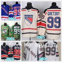 Cheap stitched 2014 NHL New York Rangers  #99 Wayne Gretzky  cream/blue/white / camo  ice hockey jersey/shirt/sportswear
