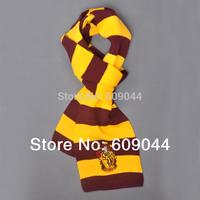 Wholesale/retail Harry Potter Scarves Movie Fans' Favorite School Unisex Striped Gryffindor Scarves  Wool Scarf Magic Costume