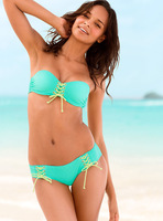 Free shipping! high-quality best feedback 9 colors ashion sexy with cup swimwear swimsuit Shoulder strapless Bikini A15317