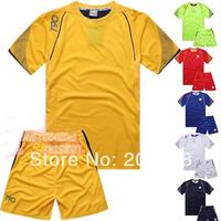 new arrived man's plain soccer uniform,soccer team uniform set.