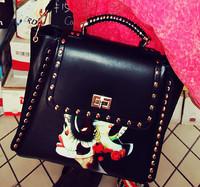 2014 Women's handbag national trend rivet a30 bag women's briefcase handbag messenger bag big bag