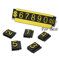 30 SETS GOLD $ CURRENCY SIGN PRICE DISPLAY TAG LABEL BOARD NUMBER COUNTER STAND FOR JEWERY FASHION JEWELRY SHOP FREE SHIPPING