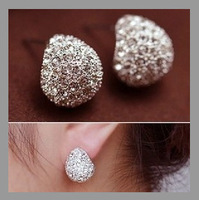 Free shipping 2014 Fashion Korean Style Rhinestone Crystal Earrings For Women Girl's Fashion