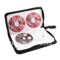 Black Leather CD DVD 80 Discs Storage Holder Case Wallet Bag Organizer