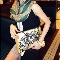 2014 women's fashion casual handbag horizontal square PU zipper one shoulder cross-body women's handbag