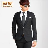 2 pcs/set Male blazer set commercial male slim professional suit formal wedding dress
