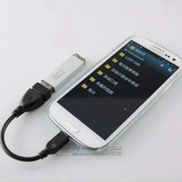 Micro USB OTG Cable for Samsung Galaxy S4 S3 S2 i9500 i9300 i9100  Note 2 N7100 Xiaomi  OTG Adapter 10pcs Free Shipping CB01