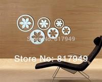 9pcs 3D Mirror Wall Sticker Home decor big SIZE decorative wall clock wall watche Modern design living room wall decor