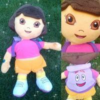 New Original DORA THE EXPLORER Kids Girls Soft Cuddly Stuffed Plush Toy Dollcm for children Free shipping