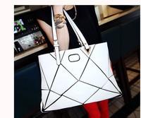 2014 woman's bag  summer personality patchwork watercubic shoulder bag female bags