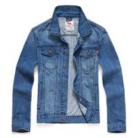 Free shipping 2014 men's clothing men's jean jackets man denim jacket for men 100% cotton outerwear