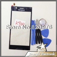 100% Original LCD Top Touch Screen Touchscreen Digitizer Glass Replacement  For lenovo K900 +Free Shipping +Tools