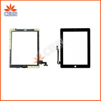 20PCS/LOT Touch Panel For iPad2,iPad3  Free Fedex EMS DHL Ship with Home Button Camera Holder Adhesive Black White color