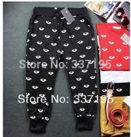 New 2014 mens pants harem sweatpants little eyes brand design pants unisex outdoors sport pants baggy pants trousers joggers