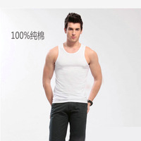 tank tops seconds kill woven casual o-neck the new spring-summer 2014 men's vest bottoming solid tight cotton men free shipping