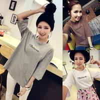 Summer 2014 women's HARAJUKU young girl top all-match basic shirt loose short-sleeve T-shirt